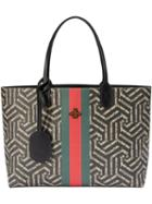 Gucci - Gg Caleido Web Tote - Women - Leather/canvas/microfibre - One Size, Black, Leather/canvas/microfibre