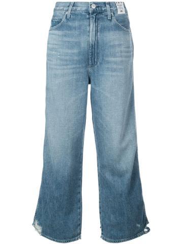 Amo High Rise Wide Leg Jeans - Blue
