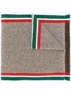 Gucci Intarsia-knit Scarf - Brown