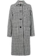 Marni - Houndstooth Coat - Women - Polyamide/viscose/virgin Wool - 40, Black, Polyamide/viscose/virgin Wool