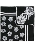 Kenzo Multi Tiger Scarf, Women's, Black, Cotton/silk