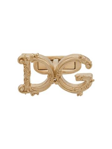 Dolce & Gabbana Dg Motif Cufflinks - Gold
