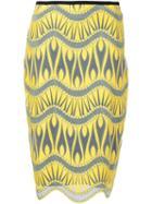 Nicole Miller Jacquard Pencil Skirt