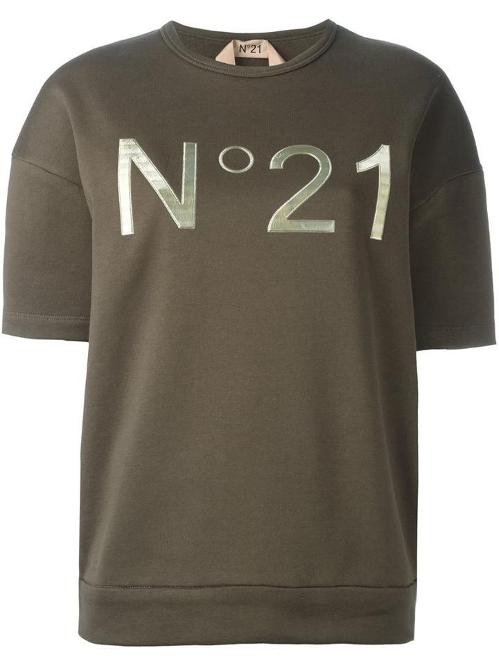 No21 Metallic Logo Print Sweatshirt