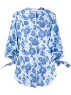 Pringle Of Scotland Oversized Floral Shirt - Blue