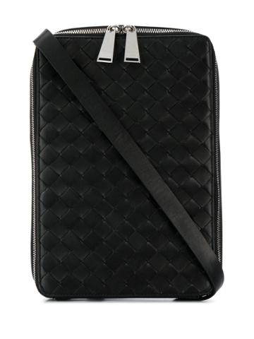 Bottega Veneta Intrecciato Cross-body Bag - Black