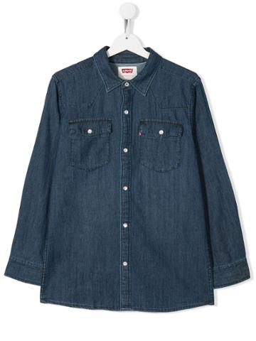Levi's Kids Teen Chest-pocket Denim Shirt - Blue