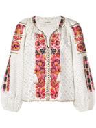 Ulla Johnson Yara Embroidered Blouse - White