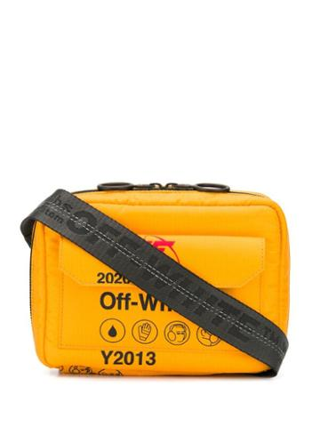 Off-white Security Motif Print Messenger Bag - Yellow