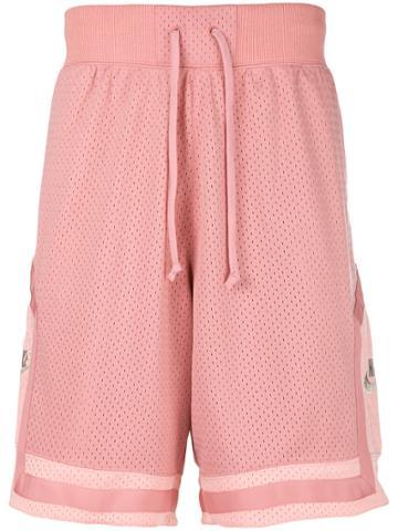Nike Mesh Track Shorts - Pink & Purple