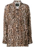 R13 Leopard Print West Shirt - Brown