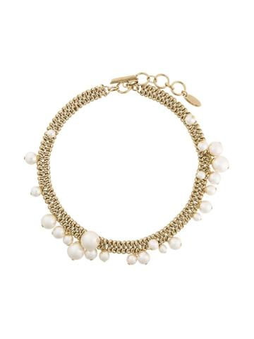Lanvin Pearl Hoop Detail Necklace, Women's, Metallic