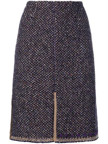 Prada Vintage Tweed Skirt - Pink & Purple