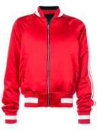 Amiri Side Stripe Bomber Jacket - Red