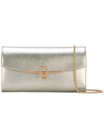 Clutch Bag - Women - Calf Leather - One Size, Grey, Calf Leather, Salvatore Ferragamo