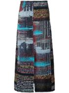 Tome 'baja Tweed Slit Front' Skirt - Multicolour