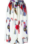 Msgm Printed Skirt - White
