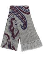 Etro Paisley Print Knit Scarf - Multicolour