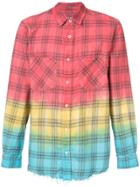 Amiri Plaid Ombré Shirt - Red