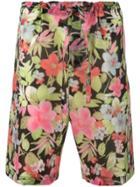 Comme Des Garçons Homme Plus Floral Print Bermuda Shorts - Multicolour