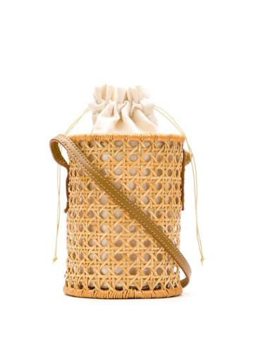 Serpui Wicker Bucket Bag - Neutrals