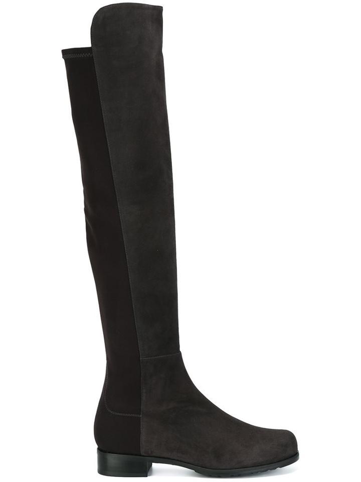 Stuart Weitzman Contrast Front Thigh High Boots