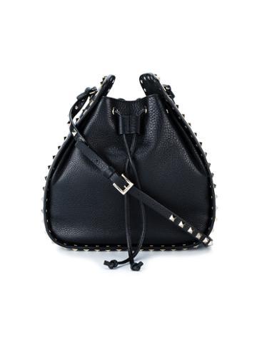 Valentino - Valentino Garavani Large Rockstud Bucket Bag - Women - Leather/metal - One Size, Black, Leather/metal