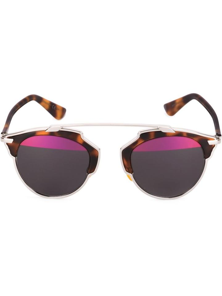 Dior Eyewear 'dior So Real' Sunglasses, Women's, Brown, Acetate/metal (other)