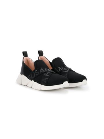 Elisabetta Franchi La Mia Bambina Teen Logo Crisscross Sneakers -