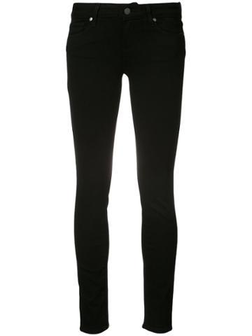 Paige Hoxton Mid-rise Skinny Jeans - Black