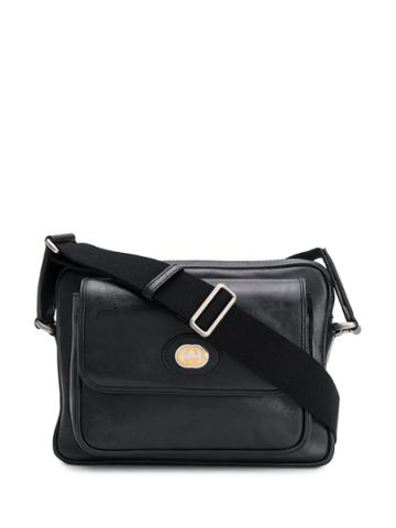 Gucci Logo Messenger Bag - Black