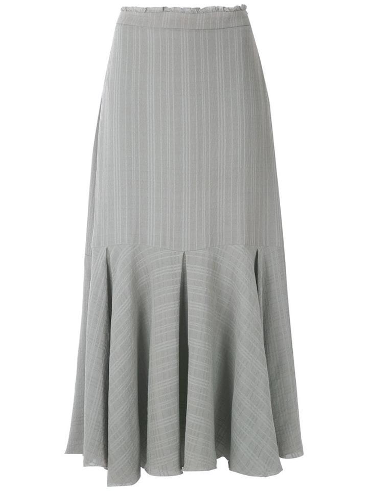 Magrella Pleated Midi Skirt - Grey