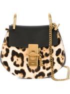 Chloé 'drew' Leopard Shoulder Bag, Women's, Black