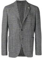 Lardini Checked Tailored Blazer - Black