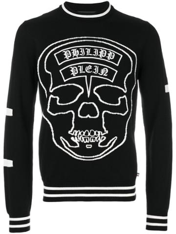 Philipp Plein - Logo Skull Jumper - Men - Wool Felt - Xl, Black, Wool Felt