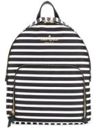 Kate Spade Striped Backpack - Black