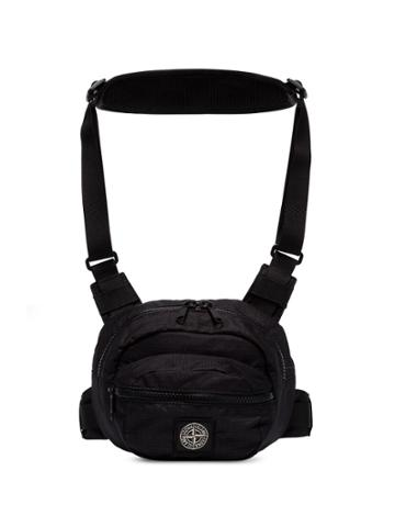 Stone Island Logo Patch Harness Bag - Black