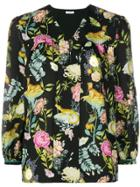 Vilshenko Floralprint Blouse - Black