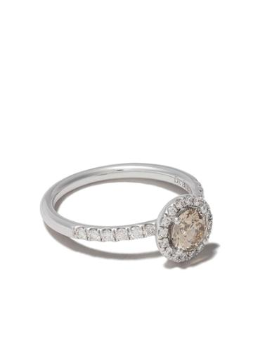De Beers 18kt White Gold De Beers Aura Fancy Coloured Diamond Ring