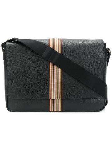 Paul Smith Signature Stripe Messenger Bag - Black