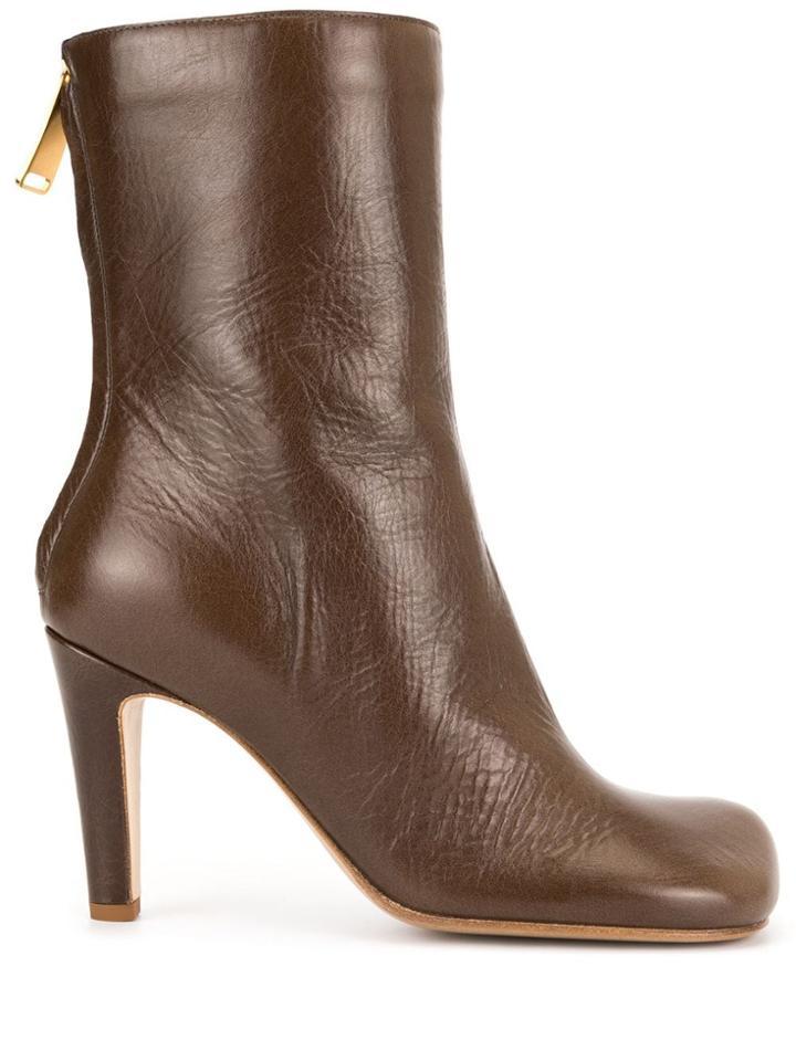 Bottega Veneta Bloc Boots - Brown