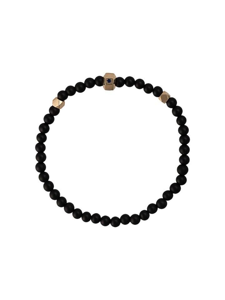 Luis Morais Star Enameled Octagon Bracelet - Black