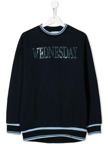 Alberta Ferretti Kids Wednesday Sweatshirt - Blue