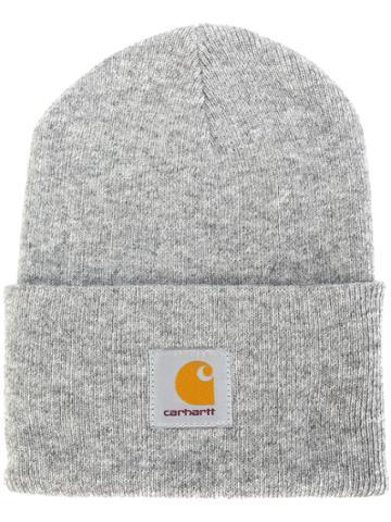 Carhartt Logo Patch Beanie - Grey