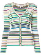 Milly Striped Cardigan - White