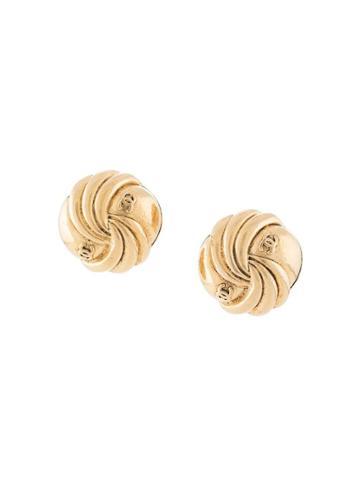 Chanel Pre-owned 1988 Shell Motif Earrings - Gold