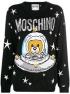 Moschino Teddy Logo Sweater - Black