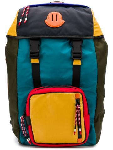 Moncler Colour Block Utility Backpack - Blue
