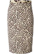 Givenchy Leopard Print Pencil Skirt - Nude & Neutrals