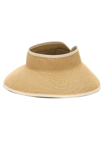 Sub - Straw Visor - Women - Paper/polyester - One Size, Nude/neutrals, Paper/polyester